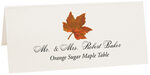Photograph of Tented Orange Sugar Maple Colorful Leaf Place Cards