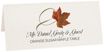 Photograph of Tented Orange Sugar Maple Twisty Leaf Place Cards