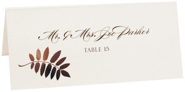Photograph of Tented Peaceful Autumn 01 Place Cards