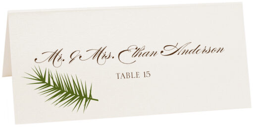 Photograph of Tented Peaceful Autumn 02 Place Cards