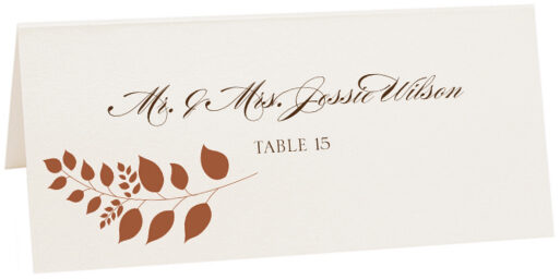 Photograph of Tented Peaceful Autumn 03 Place Cards