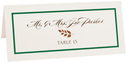Photograph of Tented Peaceful Autumn 04 Place Cards