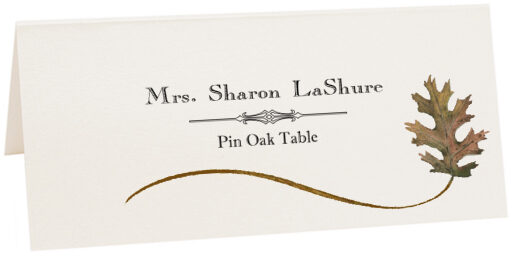 Photograph of Tented Pin Oak Wispy Leaf Place Cards