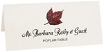 Photograph of Tented Poplar Colorful Leaf Place Cards