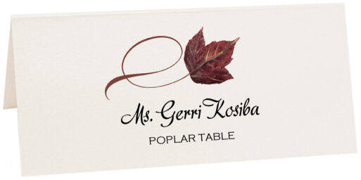 Photograph of Tented Poplar Twisty Leaf Place Cards