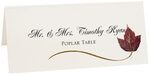 Photograph of Tented Poplar Wispy Leaf Place Cards