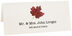 Photograph of Tented Red Maple Colorful Leaf Place Cards