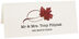 Photograph of Tented Red Maple Twisty Leaf Place Cards