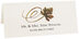 Photograph of Tented River Birch Swirly Leaf Place Cards