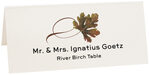 Photograph of Tented River Birch Twisty Leaf Place Cards