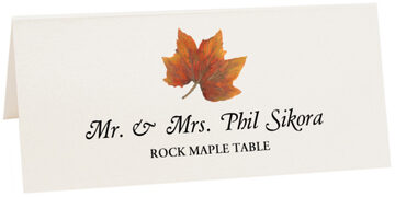 Photograph of Tented Rock Maple Colorful Leaf Place Cards