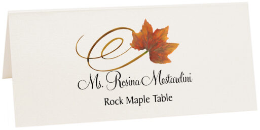 Photograph of Tented Rock Maple Swirly Leaf Place Cards