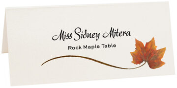 Photograph of Tented Rock Maple Wispy Leaf Place Cards