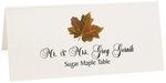 Photograph of Tented Sugar Maple Colorful Leaf Place Cards