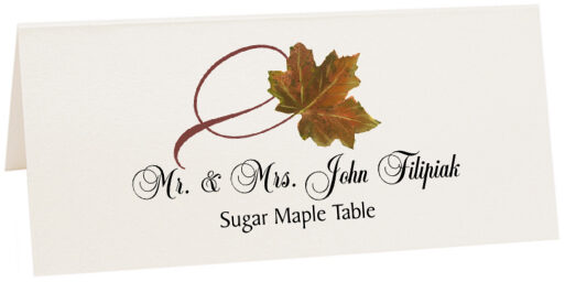 Photograph of Tented Sugar Maple Twisty Leaf Place Cards