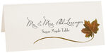 Photograph of Tented Sugar Maple Wispy Leaf Place Cards