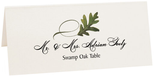 Photograph of Tented Swamp Oak Twisty Leaf Place Cards
