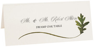 Photograph of Tented Swamp Oak Wispy Leaf Place Cards