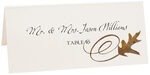 Photograph of Tented White Oak Swirl Place Cards