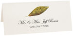 Photograph of Tented Willow Colorful Leaf Place Cards