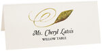 Photograph of Tented Willow Swirly Leaf Place Cards