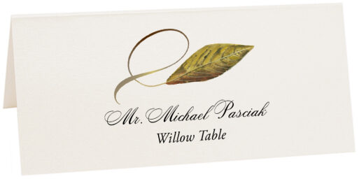 Photograph of Tented Willow Twisty Leaf Place Cards