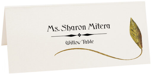 Photograph of Tented Willow Wispy Leaf Place Cards