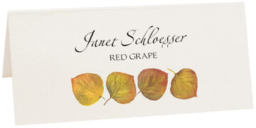 Photograph of Tented Yellow Aspen Leaves Place Cards