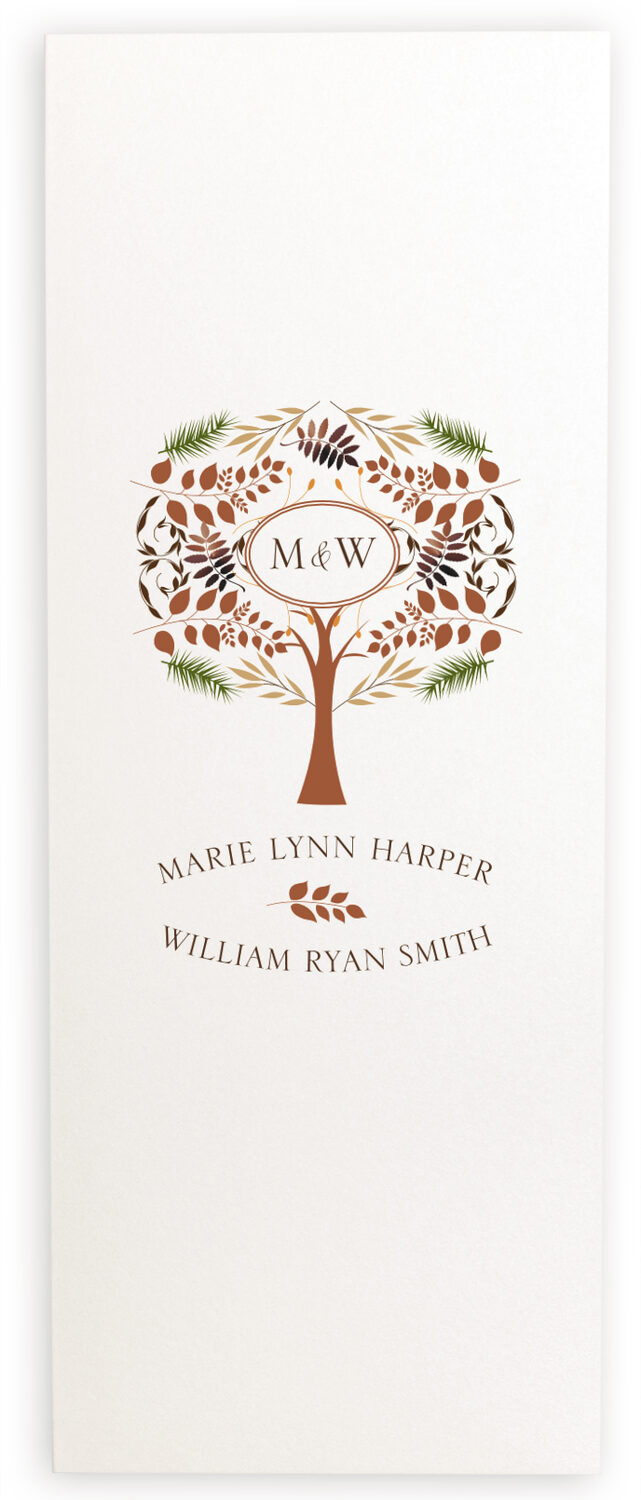 Photograph of Peaceful Autumn 01 Wedding Programs