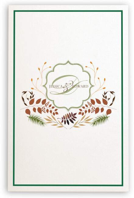 Photograph of Peaceful Autumn 02 Wedding Programs