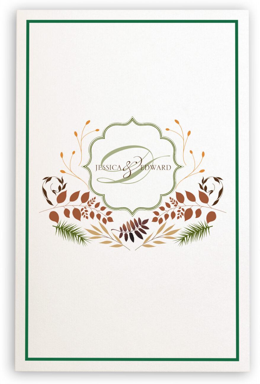 Photograph of Peaceful Autumn 02 Wedding Programs