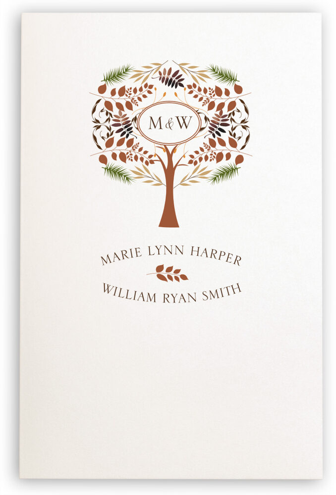 Photograph of Peaceful Autumn 03 Wedding Programs
