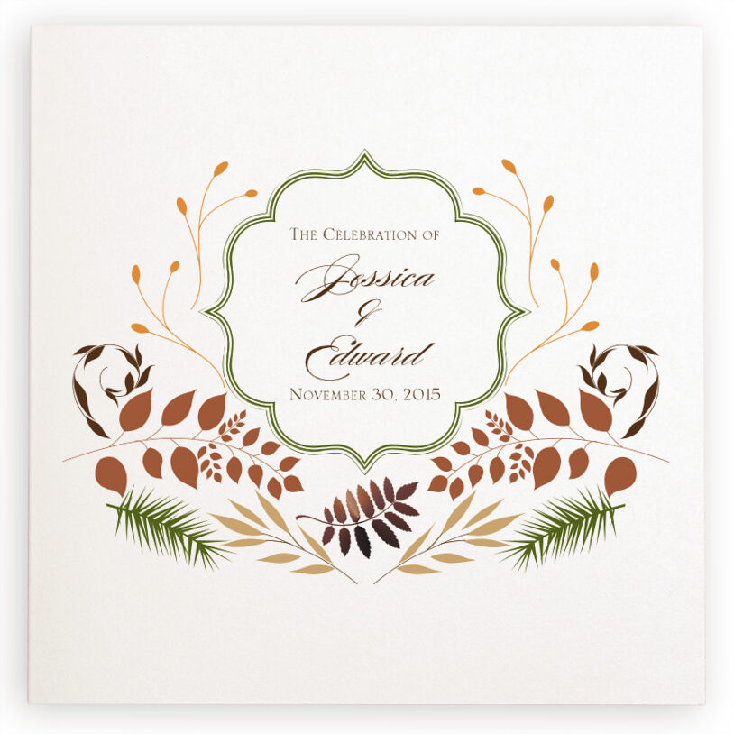 Photograph of Peaceful Autumn 04 Wedding Programs