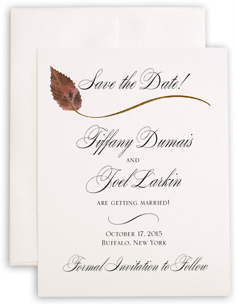 Photograph of Ironwood Wispy Leaf Save the Dates
