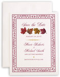 Photograph of Maple Leaf Pattern Save the Dates