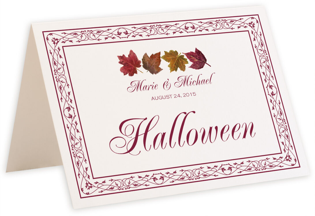Photograph of Tented Maple Leaf Pattern Table Names