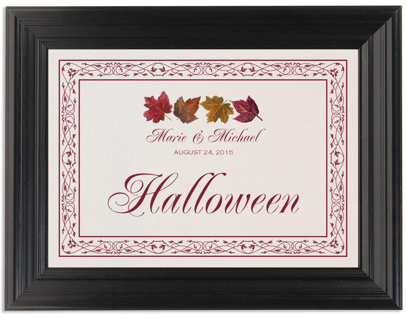 Framed Photograph of Maple Leaf Pattern Table Names