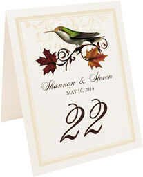 Photograph of Tented Fall Indy Table Numbers
