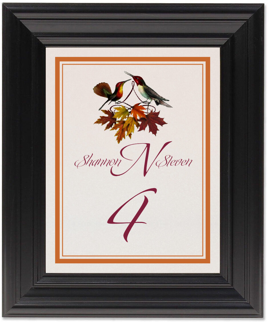 Framed Photograph of Gershwin and Giggles Table Numbers