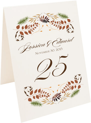 Photograph of Tented Peaceful Autumn 01 Table Numbers