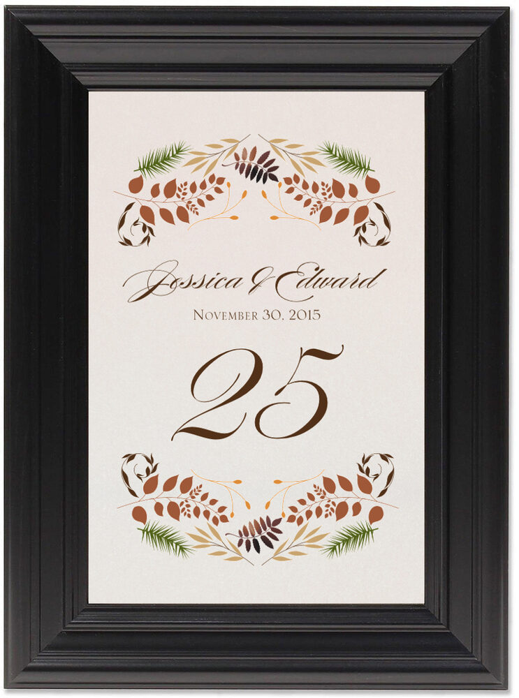 Framed Photograph of Peaceful Autumn 01 Table Numbers
