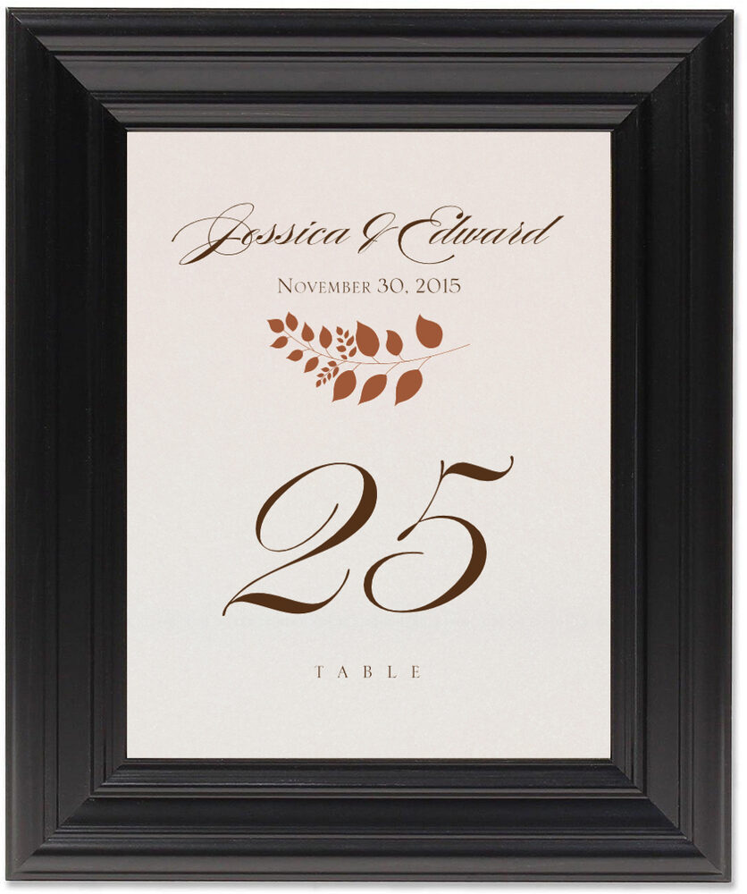Framed Photograph of Peaceful Autumn 02 Table Numbers