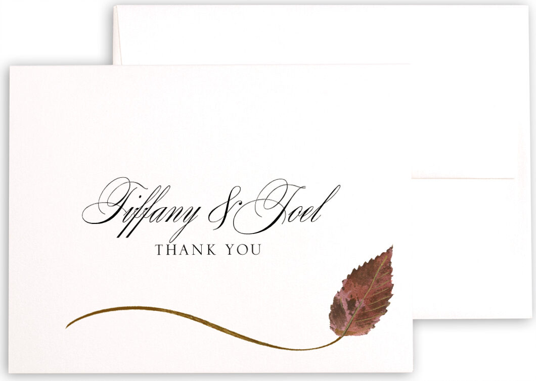 Photograph of Ironwood Wispy Leaf Thank You Notes