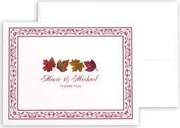 Photograph of Maple Leaf Pattern Thank You Notes