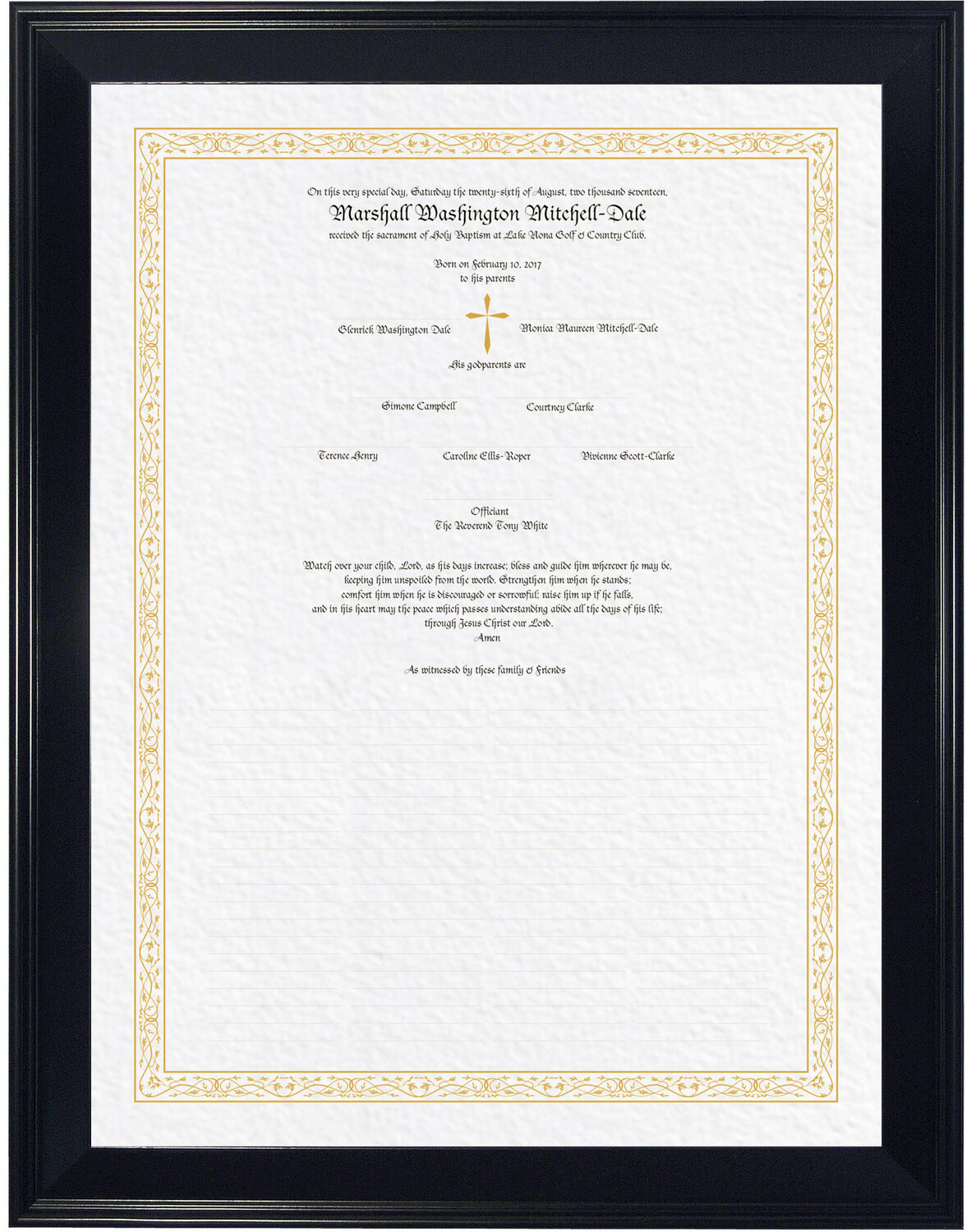 Photograph of Blackletter Gothic Wedding Certificates