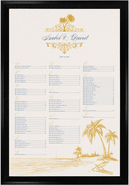 Photograph of Beach Palms Seating Charts