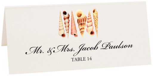 Photograph of Tented Seashell Pattern Place Cards