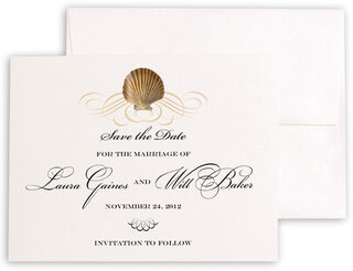 Photograph of Seashell Scallop Swirl Save the Dates