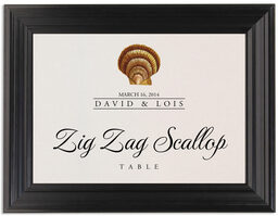 Framed Photograph of Seashell Assortment Table Names