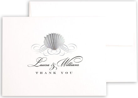 Photograph of Seashell Scallop Swirl Thank You Notes